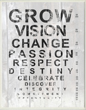 Grow Eye Chart Wood Sign