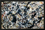Prata sobre Preto Pôsteres por Jackson Pollock
