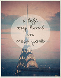 I Left My Heart in New York Wood Sign