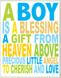 A Boy is a Blessing Wood Sign