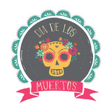 Print - Mexican Sugar Skull, Day of the Dead Poster Prints by  Marish