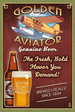 Aviator Beer - Vintage Sign Posters por  Lantern Press