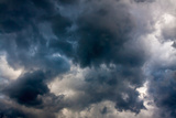 Background from the Sky and Dark Storm Clouds Photographic Print by  Yanika