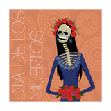 Day of Dead Sugar Skull Woman Posters by  Zhaklin