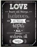 Love Bears All Things Chalkboard Look Wood Sign