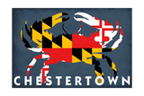 Chestertown, Maryland - Crab Flag Posters by  Lantern Press