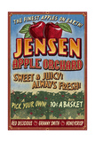 Apple Orchard - Vintage Sign Posters by  Lantern Press