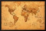 Mapa-múndi Pôsteres