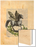 Rocking Horse Fly Wood Print by  Fab Funky