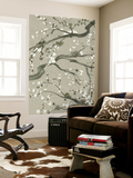 Neutral Cherry Blossoms II Wall Mural by Grace Popp