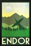 Endor Retro Travel Poster Posters