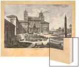 Veduta della Villa Medici Wood Print by  Piranesi