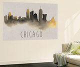 City Silhouettes II Wall Mural by Grace Popp