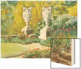 Plein Air Garden V Wood Print by Dianne Miller