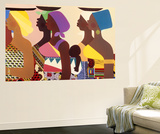 African Women Wall Mural by Varnette Honeywood