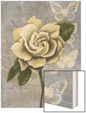 Blissful Gardenia I Wood Print by Grace Popp