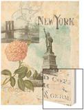 Visiting New York Wood Print by Jennifer Goldberger