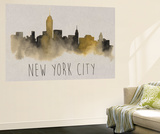 City Silhouettes V Wall Mural by Grace Popp