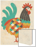 Country Chickens I Wood Print by Chariklia Zarris