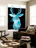 White Tail Bust II Wall Mural by Grace Popp