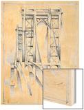 Art Deco Bridge Study I Wood Print by Ethan Harper
