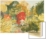 Plein Air Garden III Wood Print by Dianne Miller