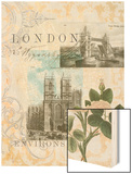 Visiting London Wood Print by Jennifer Goldberger