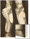 Ballet Shoes II Wood Print by Grace Popp