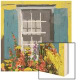 Window Floral I Wood Print by Rick Novak
