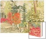 Plein Air Garden I Wood Print by Dianne Miller
