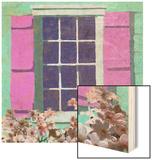 Window Floral II Wood Print by Rick Novak