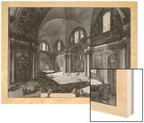 Veduta interna della Chiesa della Madonna Wood Print by  Piranesi