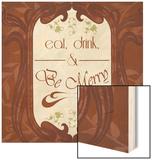 Inspired Wine VI Wood Print by  Vision Studio