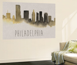 City Silhouettes VI Wall Mural by Grace Popp