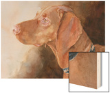 Bowden Vizsla Wood Print by Edie Fagan