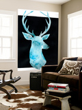 White Tail Bust I Wall Mural by Grace Popp