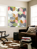 Arabesque Shapes II Wall Mural by Jennifer Goldberger