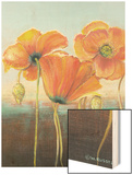 Poppy Tops I Wood Print by Wendy Russell