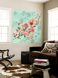 Cherry Blossom Shadows I Wall Mural by Grace Popp