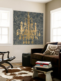 Gilt Chandelier I Wall Mural by Jennifer Goldberger