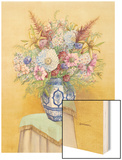Bouquet in Asian Vase I Wood Print by Wendy Russell
