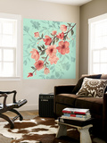 Cherry Blossom Shadows II Wall Mural by Grace Popp