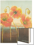 Poppy Tops II Wood Print by Wendy Russell