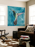 Watercolor Hummingbird II Wall Mural by Grace Popp