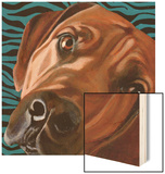 Dlynn's Dogs - Bunsen Wood Print by Dlynn Roll