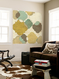 Quatrefoil Overlay I Wall Mural by June Erica Vess