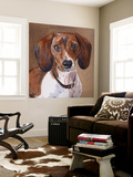 Sam Dachshund Wall Mural by Edie Fagan
