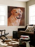 Cody Yellow Lab Wall Mural by Edie Fagan