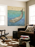 Diving Whale I Wall Mural by Megan Meagher