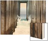 Boardwalk II Wood Print by Sylvia Coomes